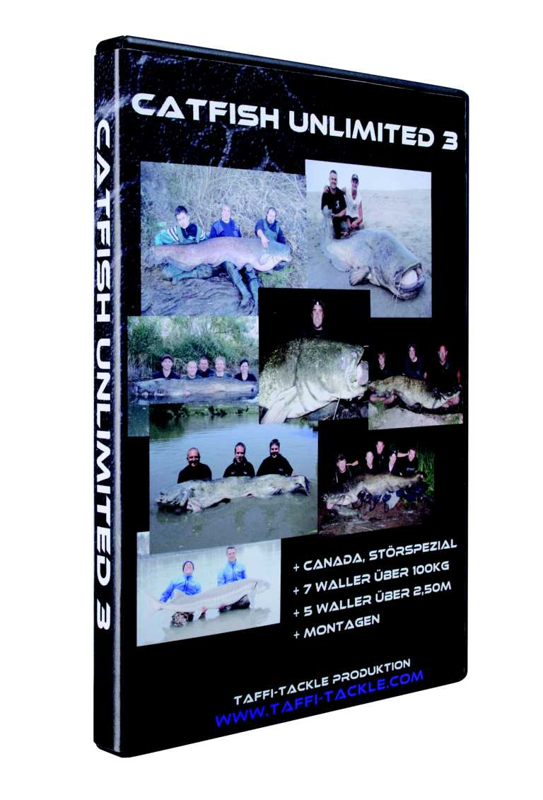 Taffi Tackle Catfish Unlimited 3 DVD